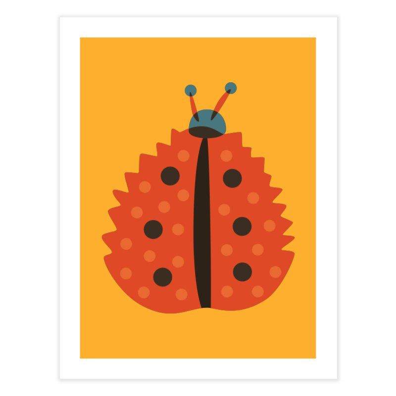 Ladybug Masked As Autumn Leaf Home Fine Art Print by Boriana's Artist Shop