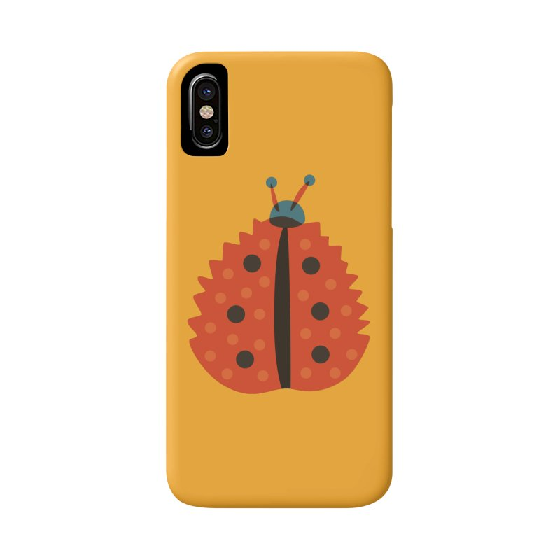 Ladybug Masked As Autumn Leaf Accessories Phone Case by Boriana's Artist Shop