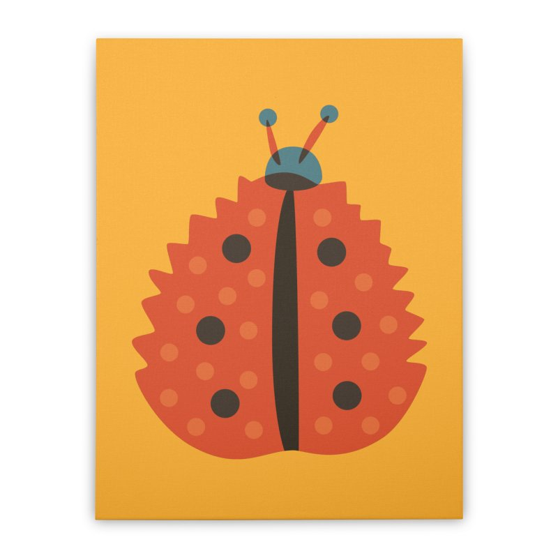 Ladybug Masked As Autumn Leaf Home Stretched Canvas by Boriana's Artist Shop