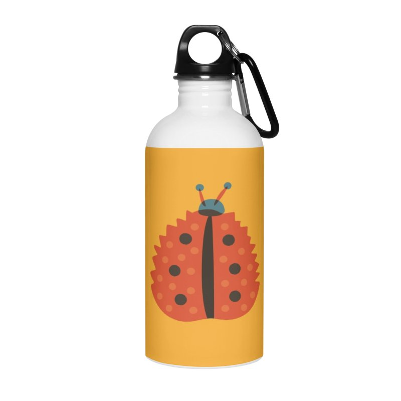Ladybug Masked As Autumn Leaf Accessories Water Bottle by Boriana's Artist Shop