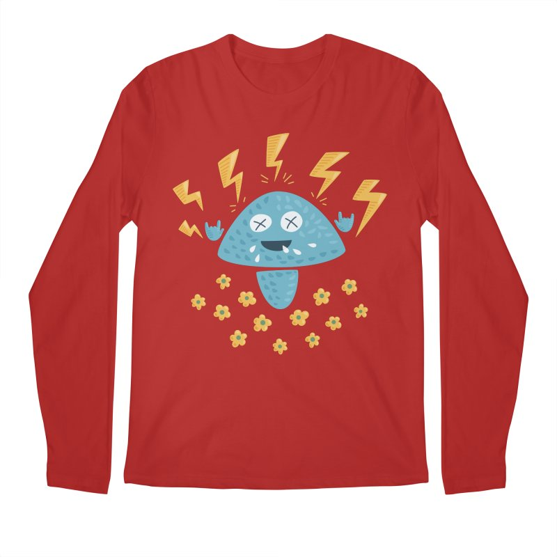 Hard Rock Mushroom Men's Longsleeve T-Shirt by Boriana's Artist Shop