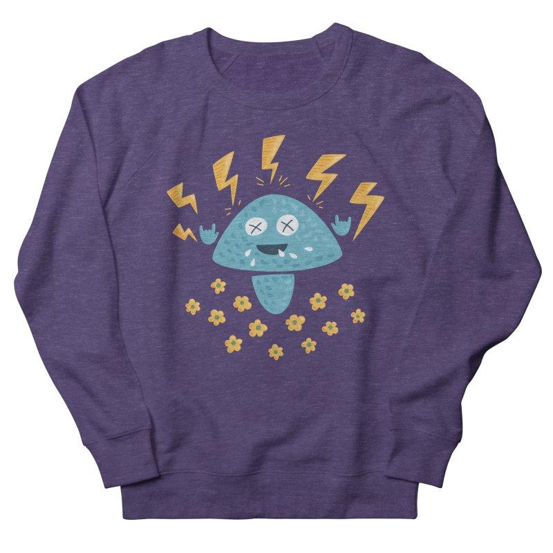 Hard Rock Mushroom Men's Sweatshirt by Boriana's Artist Shop