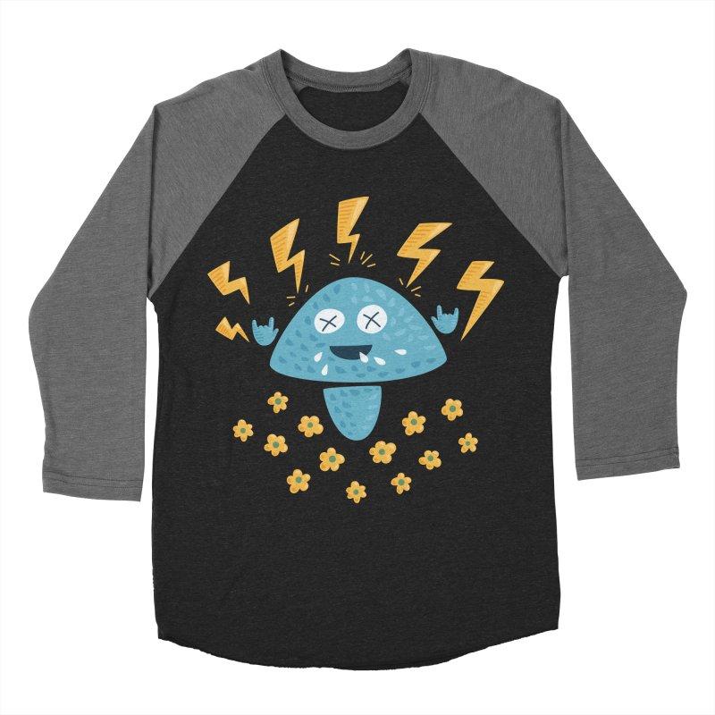 Hard Rock Mushroom Men's Baseball Triblend T-Shirt by Boriana's Artist Shop