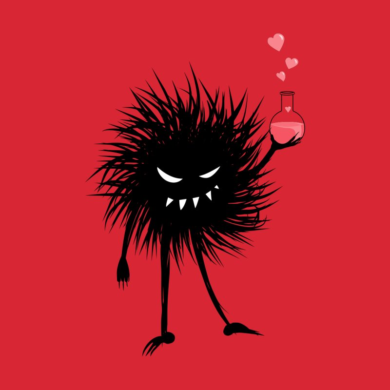 Evil Bug Chemist With Love Potion Kids T-Shirt by Boriana's Artist Shop