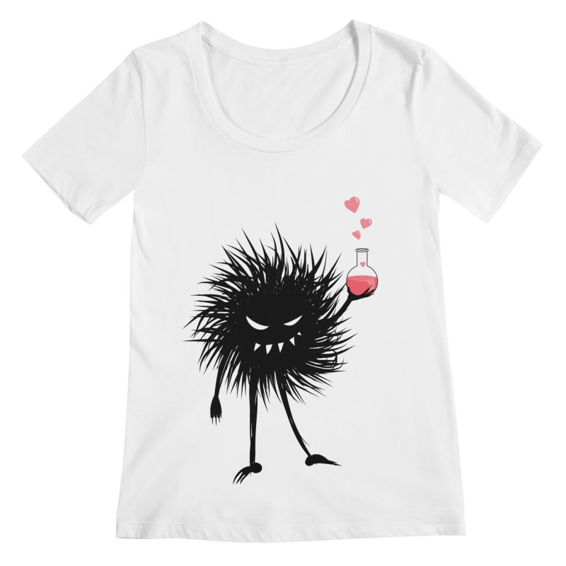 Evil Bug Chemist With Love Potion Women's Regular Scoop Neck by Boriana's Artist Shop