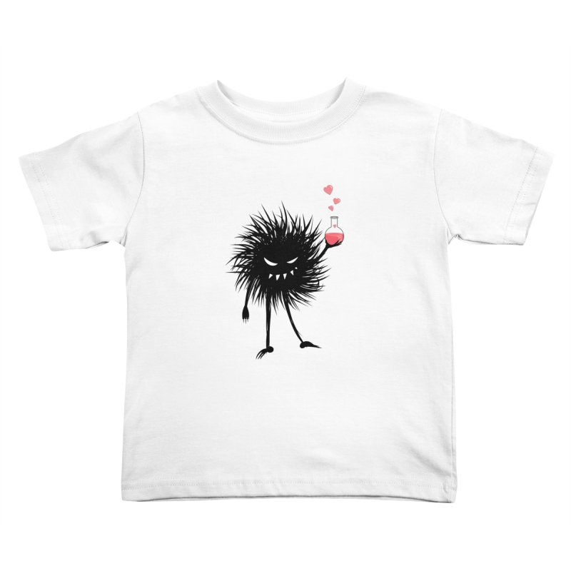 Evil Bug Chemist With Love Potion Kids Toddler T-Shirt by Boriana's Artist Shop