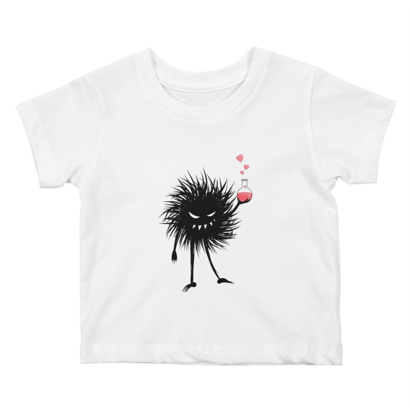 Evil Bug Chemist With Love Potion Kids Baby T-Shirt by Boriana's Artist Shop