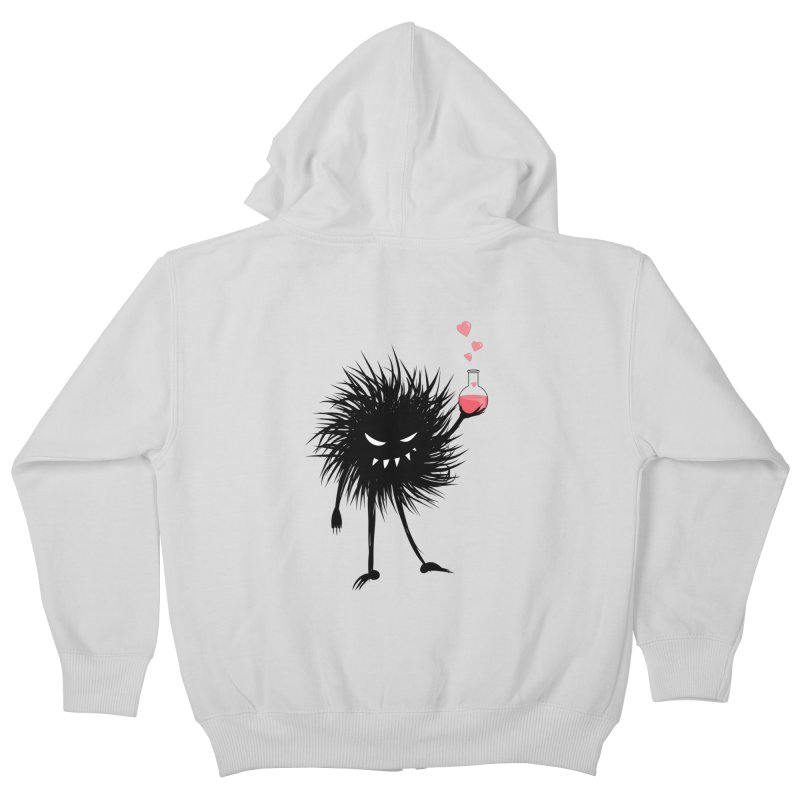 Evil Bug Chemist With Love Potion Kids Zip-Up Hoody by Boriana's Artist Shop