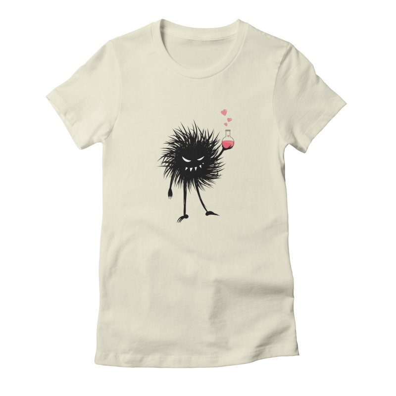 Evil Bug Chemist With Love Potion in Women's Fitted T-Shirt Natural by Boriana's Artist Shop