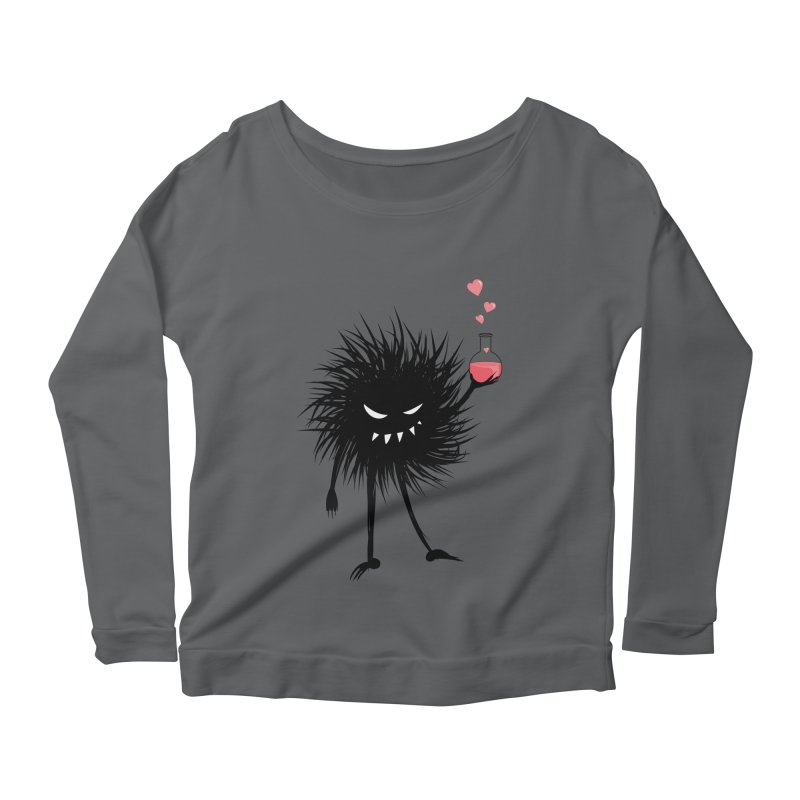 Evil Bug Chemist With Love Potion Women's Scoop Neck Longsleeve T-Shirt by Boriana's Artist Shop