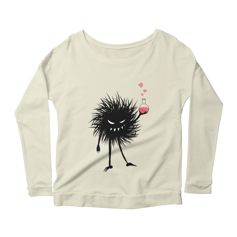 Evil Bug Chemist With Love Potion Women's Longsleeve Scoopneck  by Boriana's Artist Shop