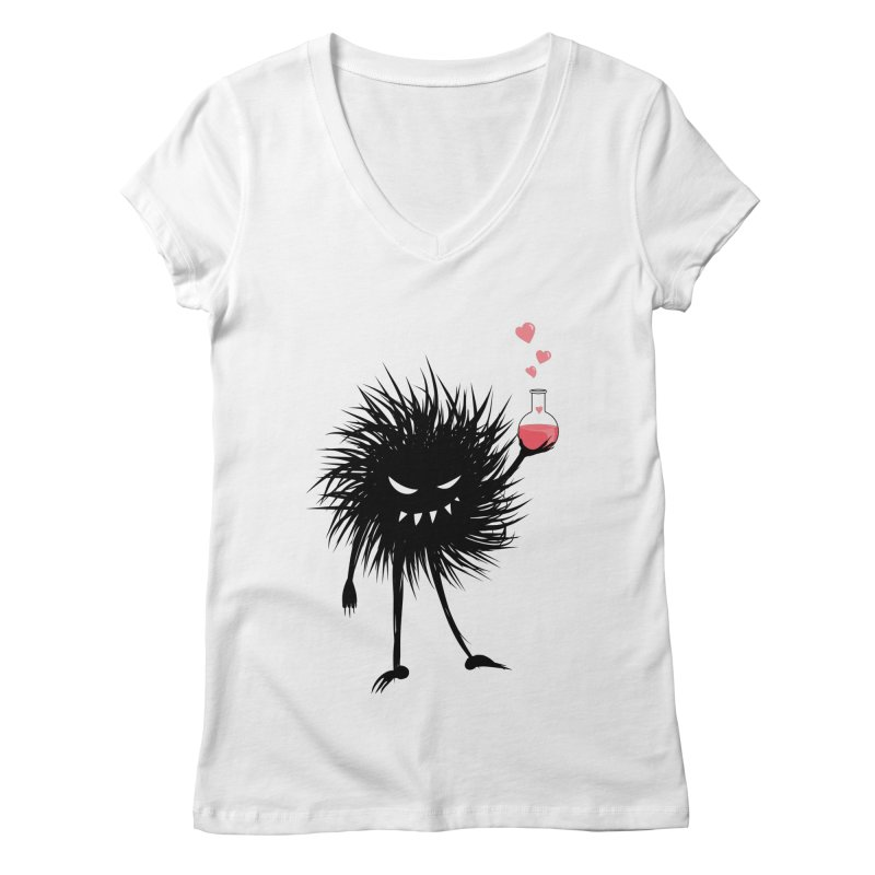 Evil Bug Chemist With Love Potion Women's Regular V-Neck by Boriana's Artist Shop