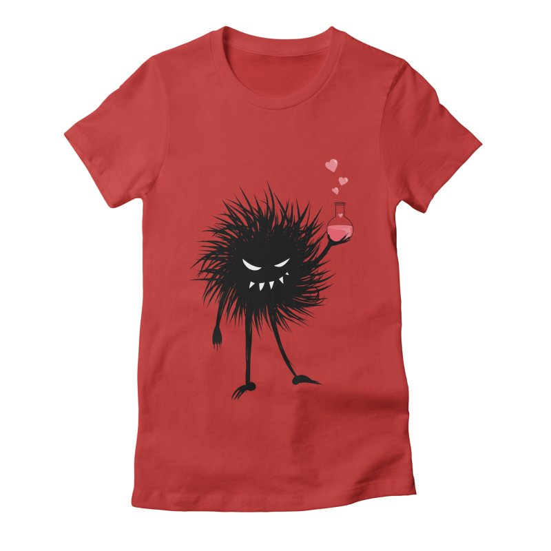 Evil Bug Chemist With Love Potion in Women's Fitted T-Shirt Red by Boriana's Artist Shop