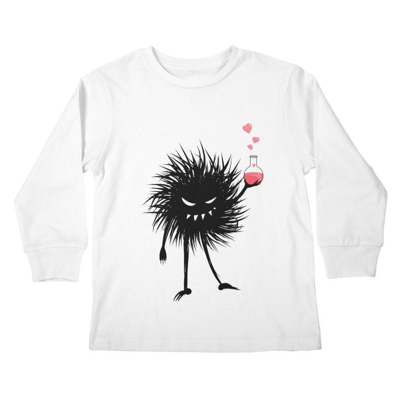 Evil Bug Chemist With Love Potion Kids Longsleeve T-Shirt by Boriana's Artist Shop