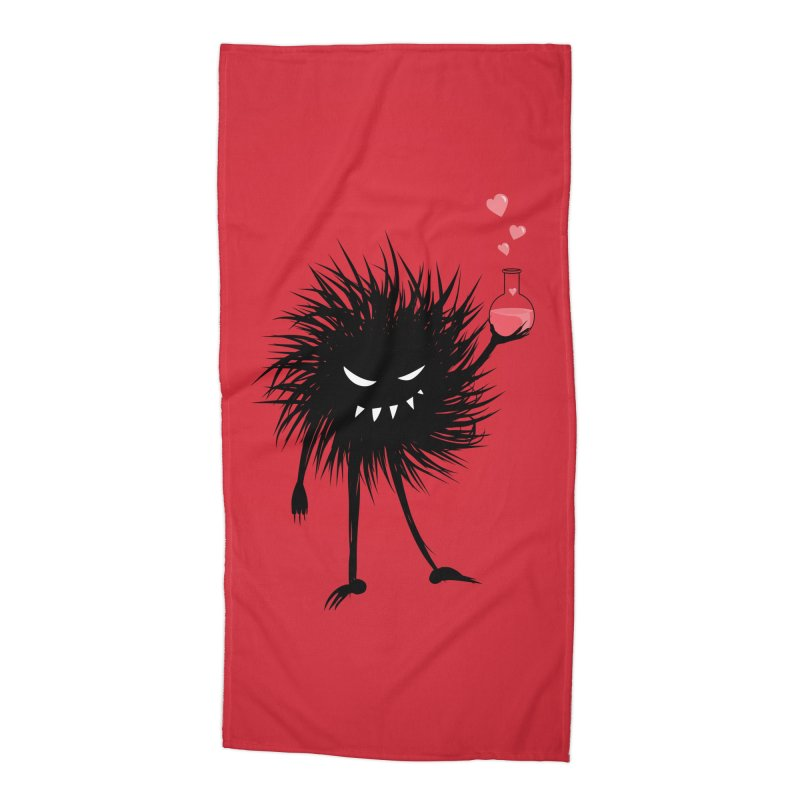 Evil Bug Chemist With Love Potion Accessories Beach Towel by Boriana's Artist Shop