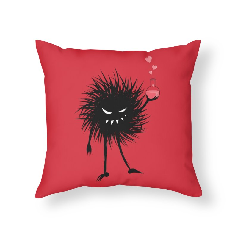 Evil Bug Chemist With Love Potion Home Throw Pillow by Boriana's Artist Shop