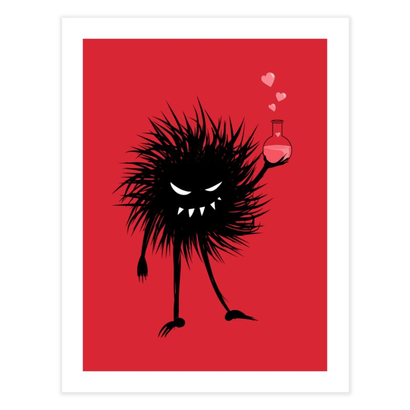 Evil Bug Chemist With Love Potion Home Fine Art Print by Boriana's Artist Shop