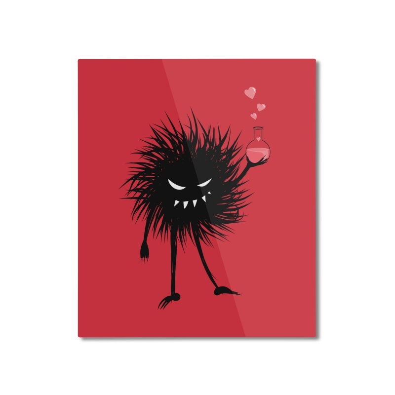Evil Bug Chemist With Love Potion Home Mounted Aluminum Print by Boriana's Artist Shop