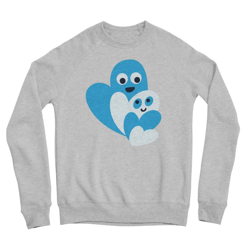 Cute Family Of Happy Hearts Men's Sponge Fleece Sweatshirt by Boriana's Artist Shop