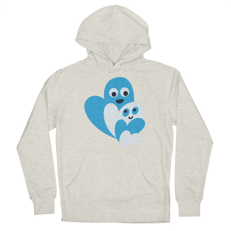 Cute Family Of Happy Hearts Women's French Terry Pullover Hoody by Boriana's Artist Shop