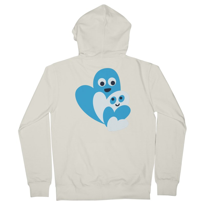 Cute Family Of Happy Hearts Women's French Terry Zip-Up Hoody by Boriana's Artist Shop