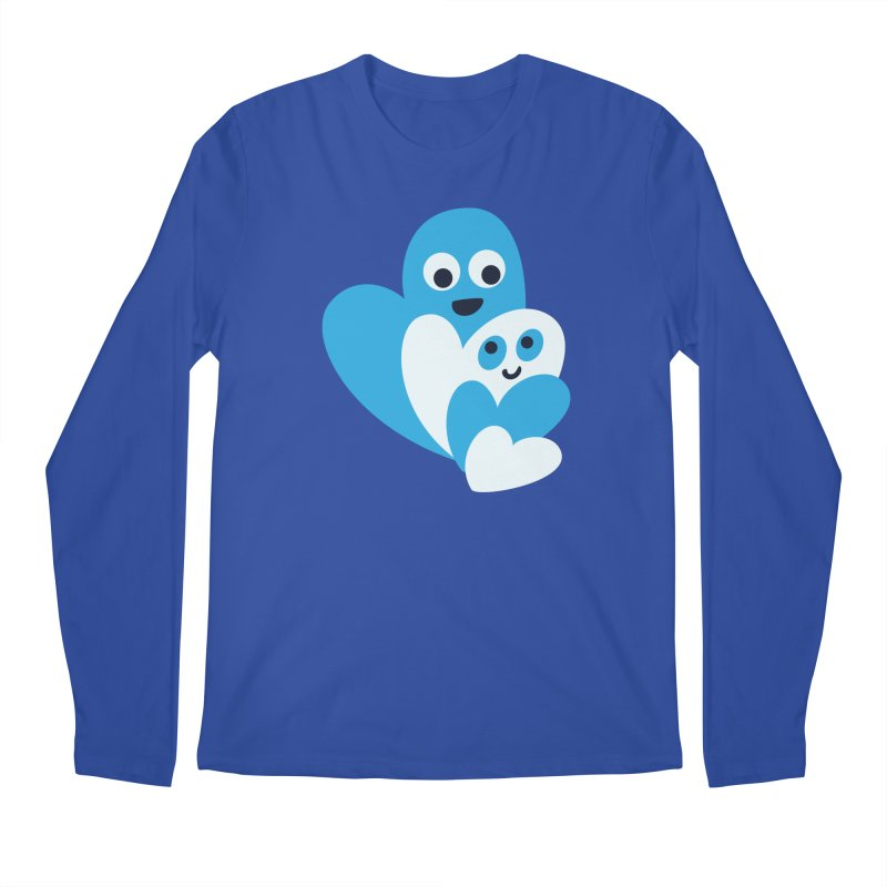 Cute Family Of Happy Hearts Men's Regular Longsleeve T-Shirt by Boriana's Artist Shop