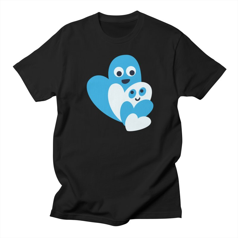 Cute Family Of Happy Hearts Men's T-Shirt by Boriana's Artist Shop