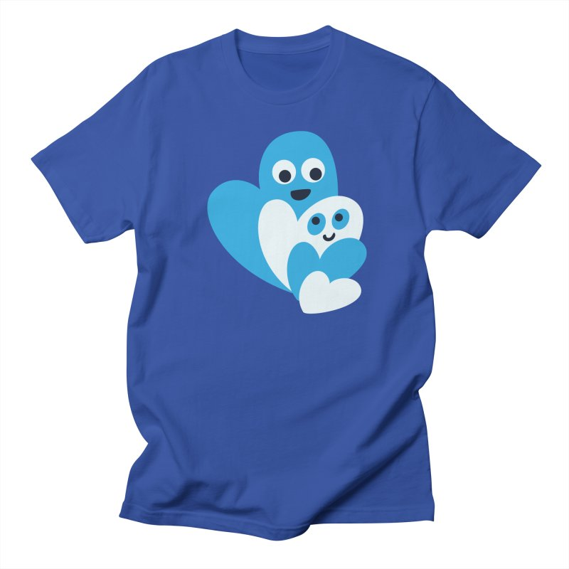 Cute Family Of Happy Hearts Men's T-Shirt by Boriana's Artist Shop