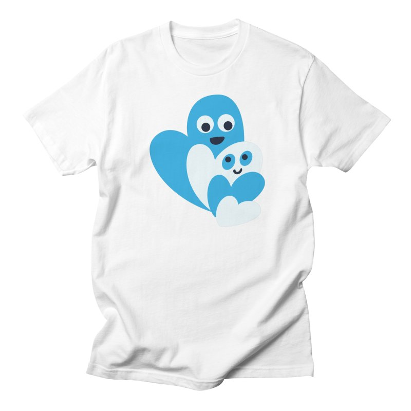 Cute Family Of Happy Hearts Men's Regular T-Shirt by Boriana's Artist Shop