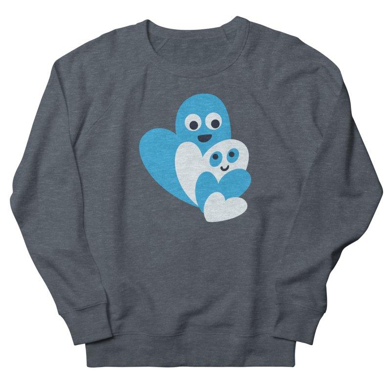 Cute Family Of Happy Hearts Women's French Terry Sweatshirt by Boriana's Artist Shop