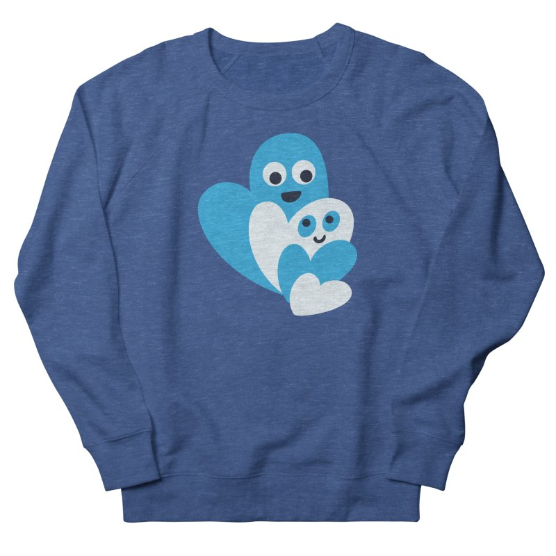 Cute Family Of Happy Hearts Men's French Terry Sweatshirt by Boriana's Artist Shop