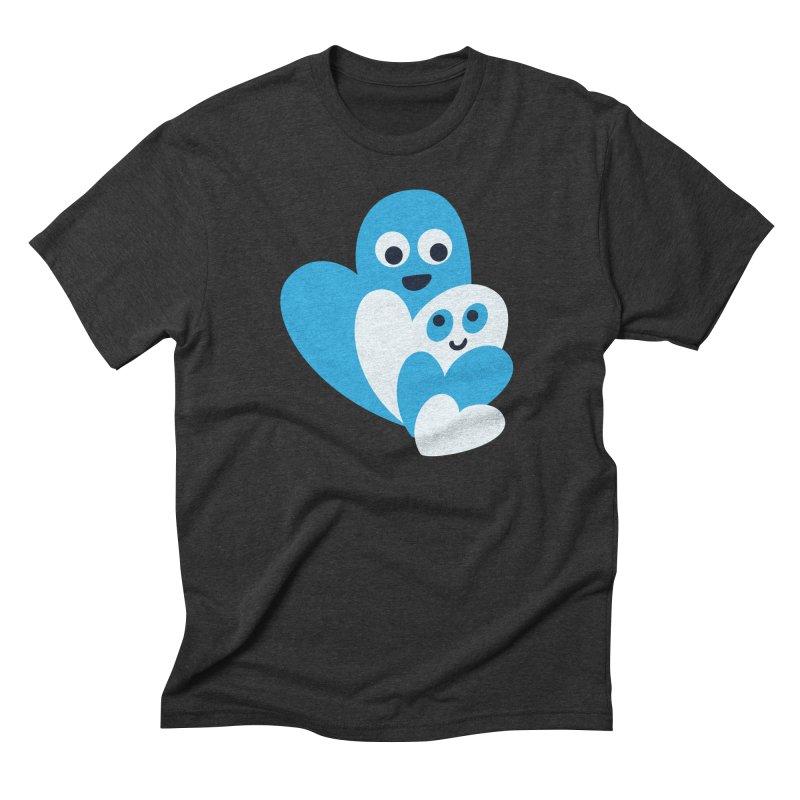 Cute Family Of Happy Hearts Men's Triblend T-Shirt by Boriana's Artist Shop