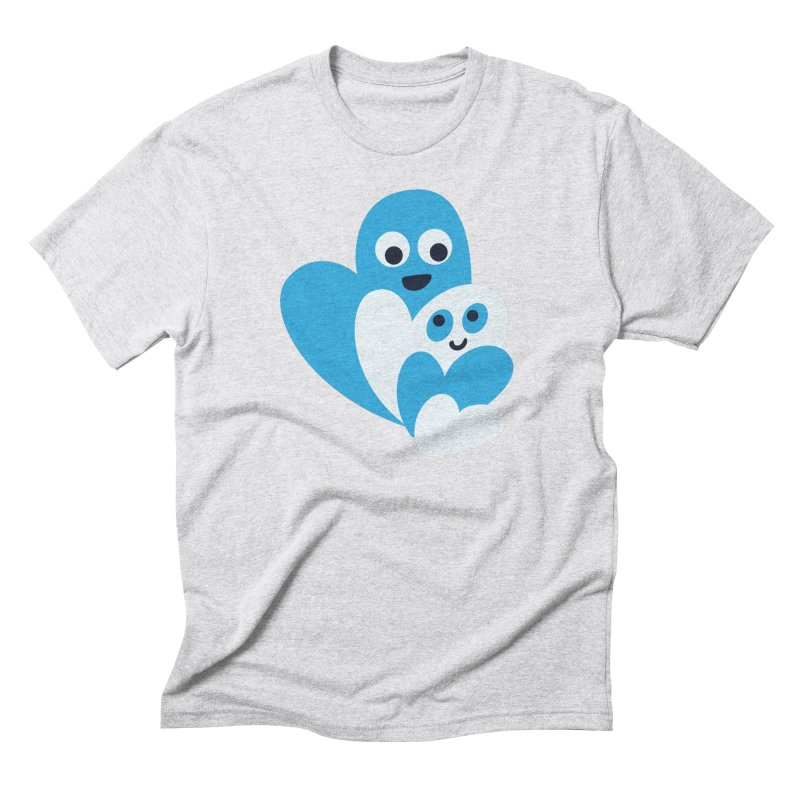 Cute Family Of Happy Hearts Men's Triblend T-Shirt by Boriana's Artist Shop