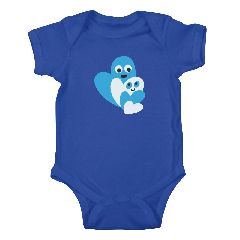 Cute Family Of Happy Hearts Kids Baby Bodysuit by Boriana's Artist Shop