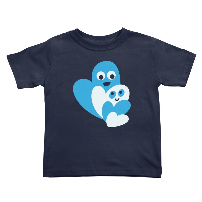 Cute Family Of Happy Hearts Kids Toddler T-Shirt by Boriana's Artist Shop