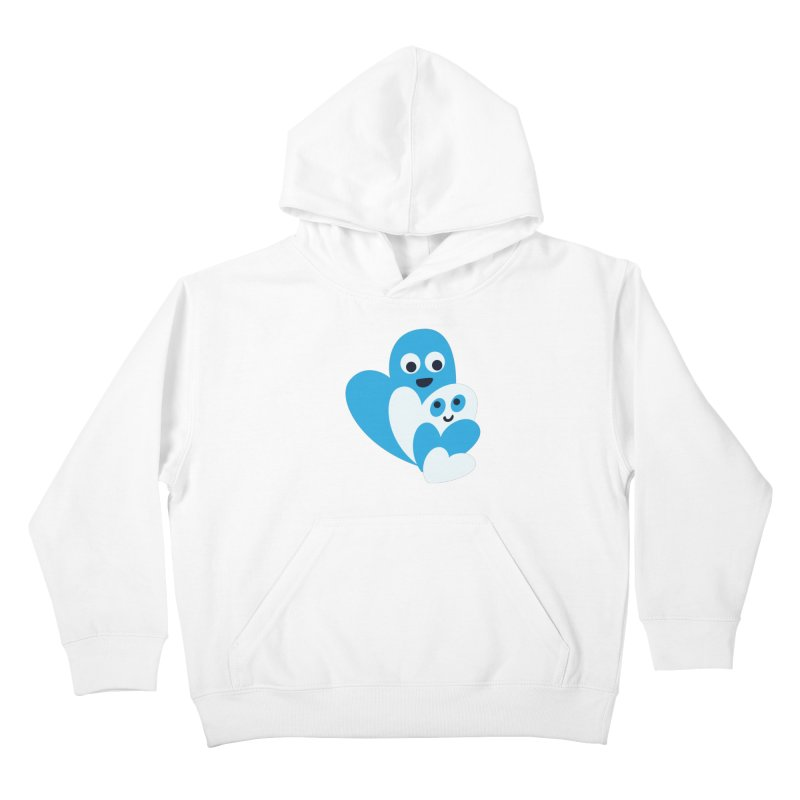 Cute Family Of Happy Hearts Kids Pullover Hoody by Boriana's Artist Shop