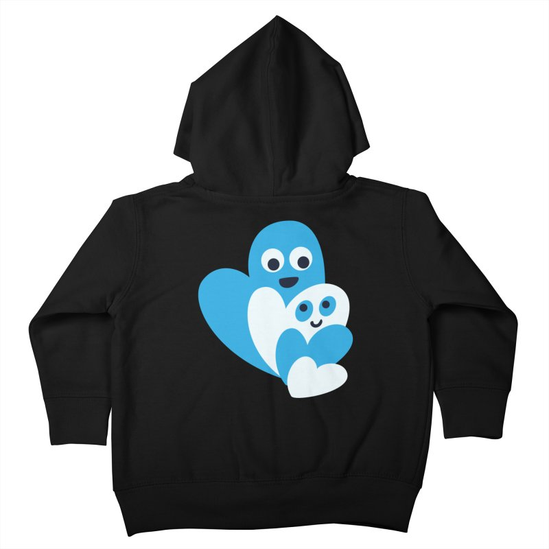 Cute Family Of Happy Hearts Kids Toddler Zip-Up Hoody by Boriana's Artist Shop