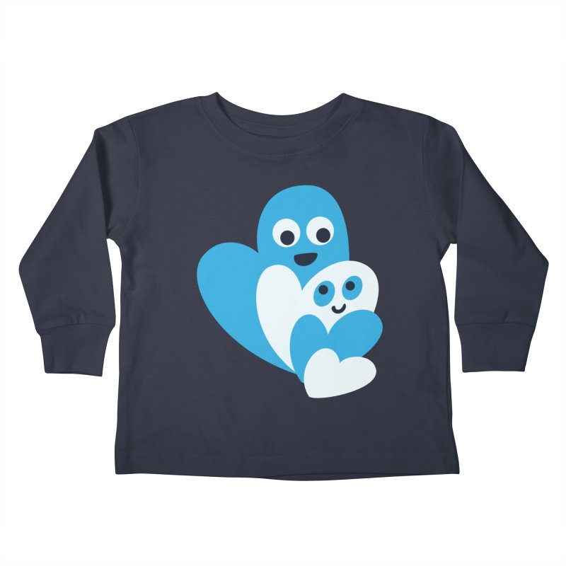 Cute Family Of Happy Hearts Kids Toddler Longsleeve T-Shirt by Boriana's Artist Shop