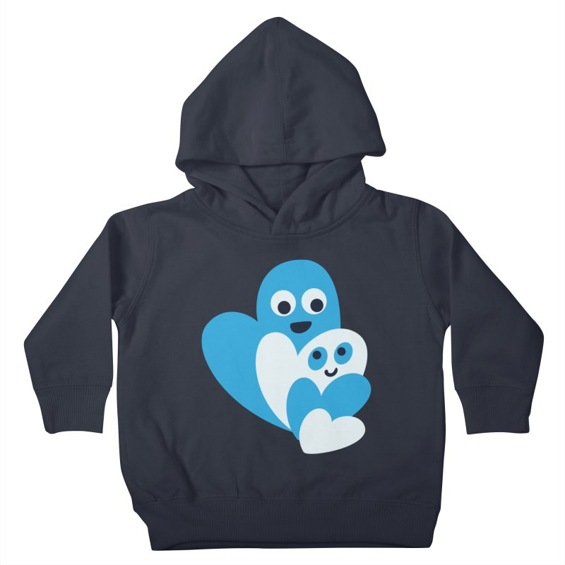 Cute Family Of Happy Hearts Kids Toddler Pullover Hoody by Boriana's Artist Shop