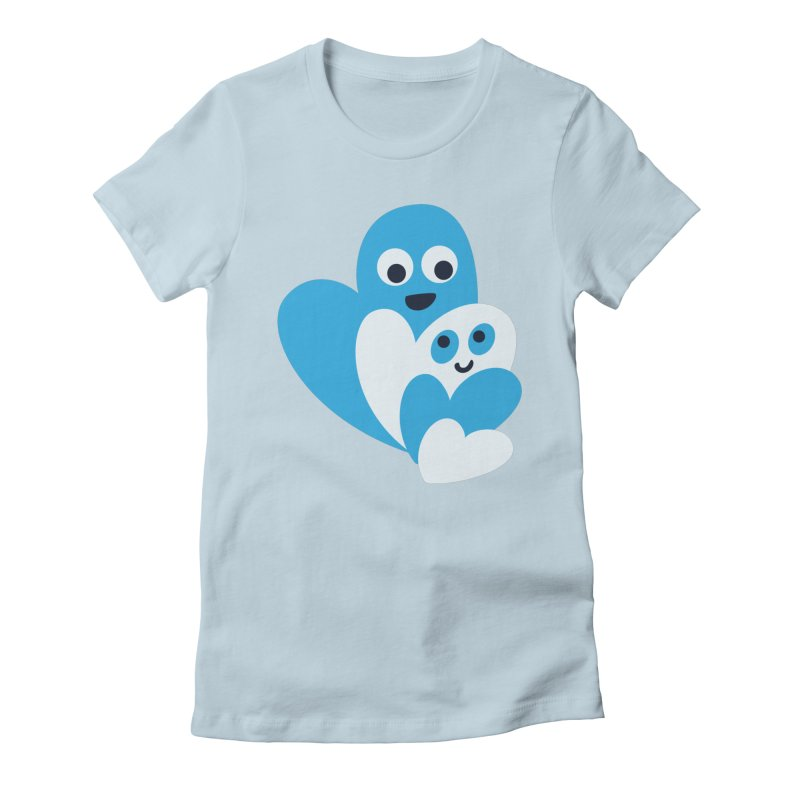 Cute Family Of Happy Hearts Women's Fitted T-Shirt by Boriana's Artist Shop