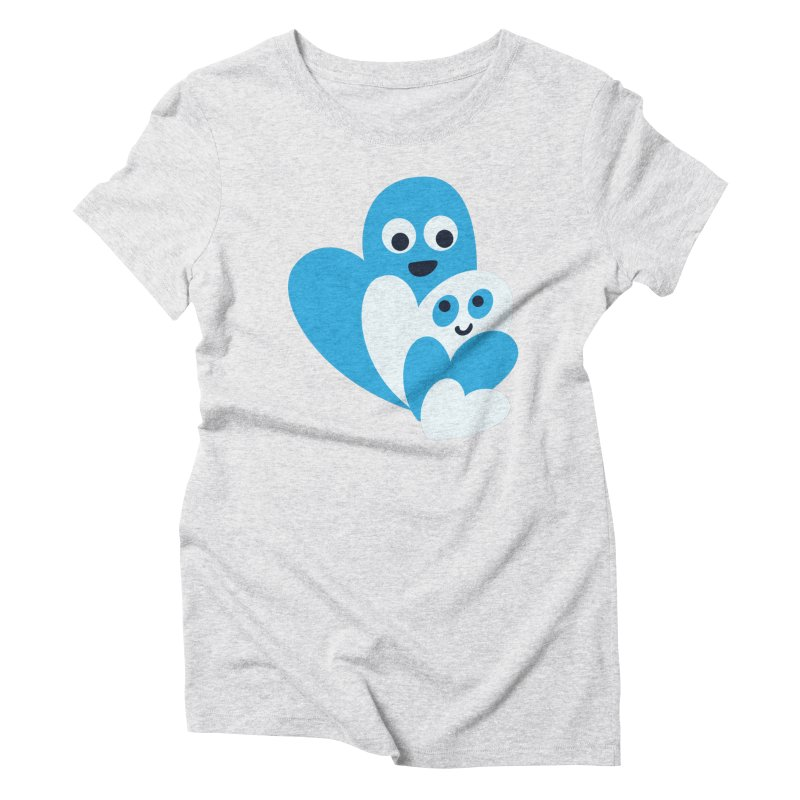 Cute Family Of Happy Hearts Women's Triblend T-Shirt by Boriana's Artist Shop