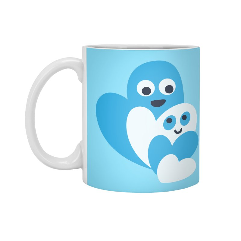 Cute Family Of Happy Hearts Accessories Mug by Boriana's Artist Shop