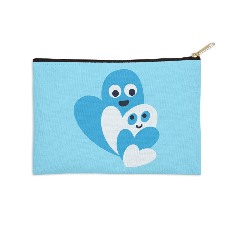 Cute Family Of Happy Hearts Accessories Zip Pouch by Boriana's Artist Shop