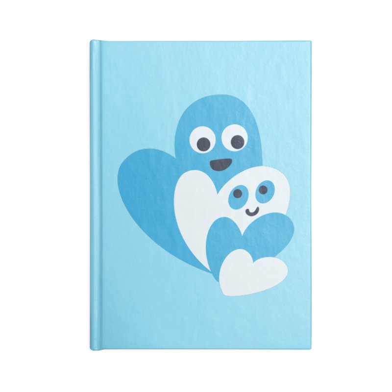 Cute Family Of Happy Hearts Accessories Notebook by Boriana's Artist Shop