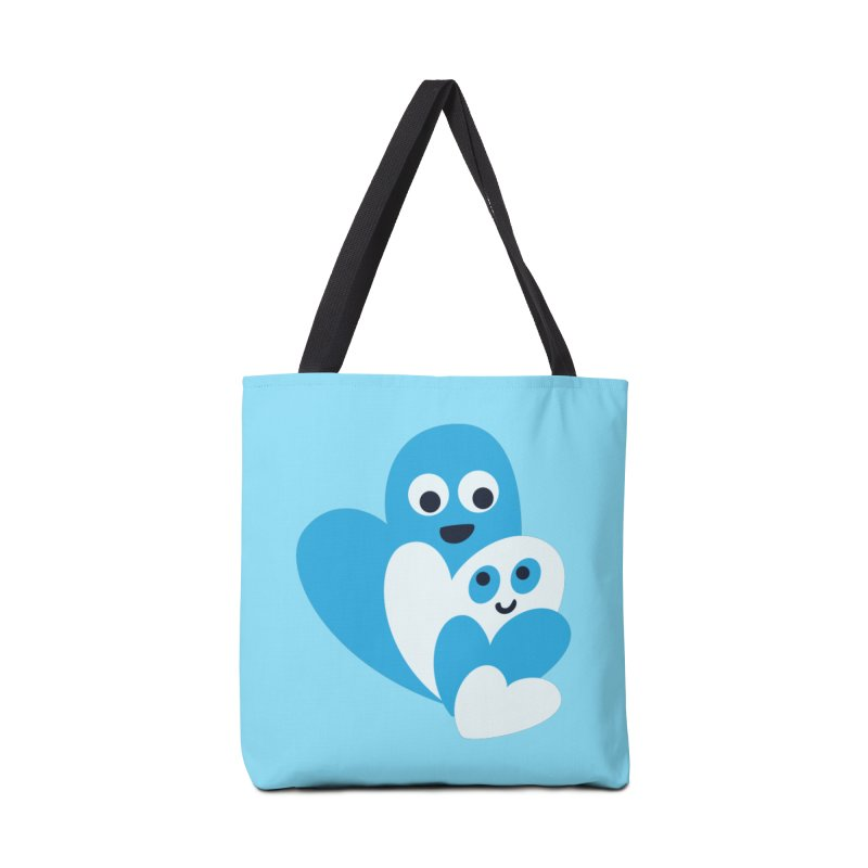 Cute Family Of Happy Hearts Accessories Bag by Boriana's Artist Shop