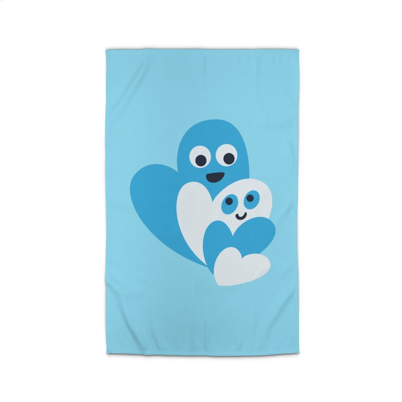 Cute Family Of Happy Hearts Home Rug by Boriana's Artist Shop