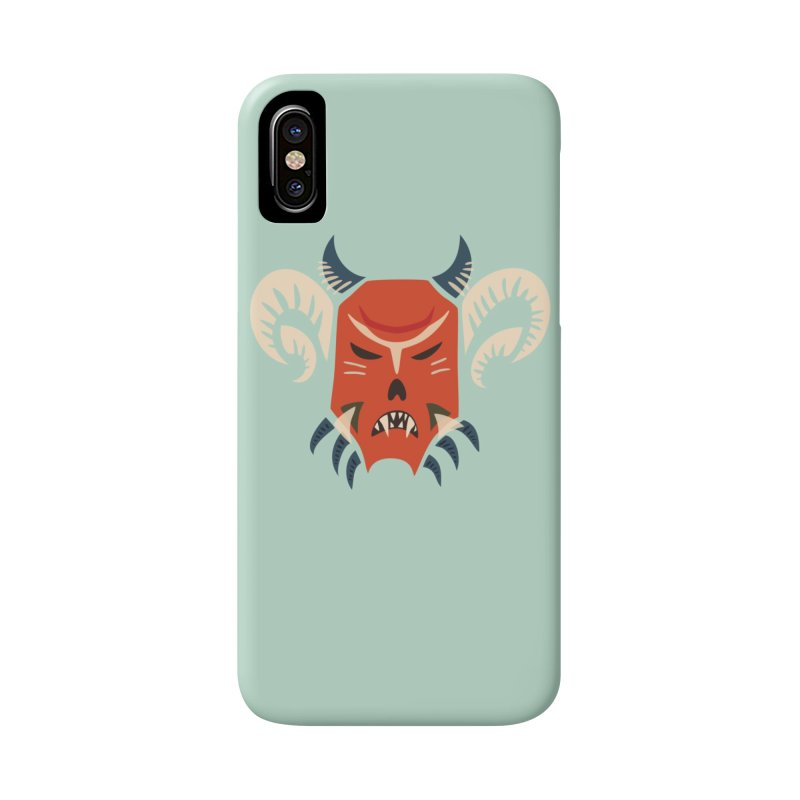 Evil Horned Demon Mask Accessories Phone Case by Boriana's Artist Shop