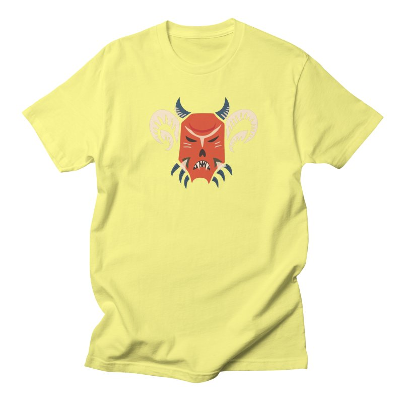 Evil Horned Demon Mask Men's Regular T-Shirt by Boriana's Artist Shop
