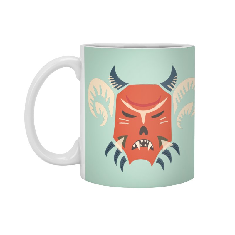 Evil Horned Demon Mask Accessories Standard Mug by Boriana's Artist Shop