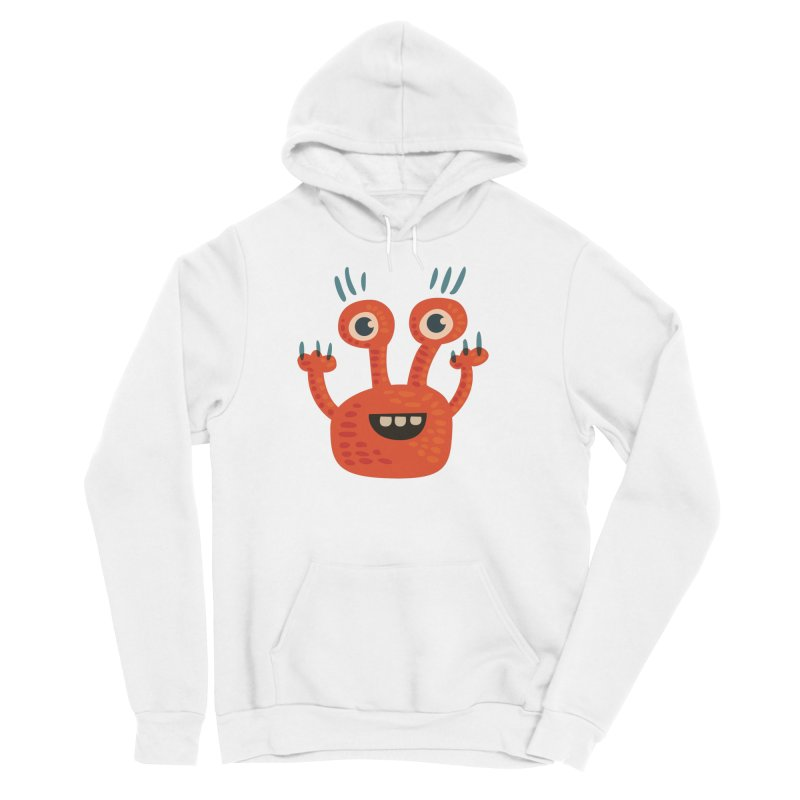 Funny Orange Monster Men's Sponge Fleece Pullover Hoody by Boriana's Artist Shop